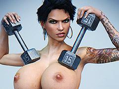 Tattooed fitness divas - 3D Fitness girl by LCKX (Looks can kill)