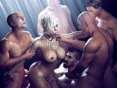 Hot orgy CGI - MILF porn by Balassa