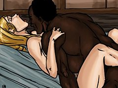 His big black cock pushed inside her - The good wife by Illustrated interracial