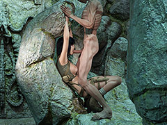 Mummy comes alive to pound the pussy of a hot explorer - Lisa in Tomb Raider by Epicuren