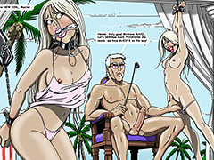 You must fish naked white girls in bondage cuffs - The Island club by Gary Roberts