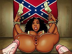 Take that black dick girl - Interracial toon by Moose