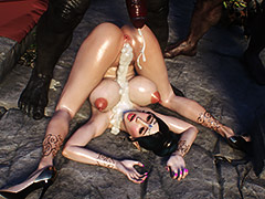 Hot sperm flooded the beautiful body of an elf - Elf slave 2 by Jared999d