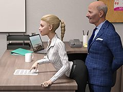 Hot daughter at work - Incest 3D by Dark Lord