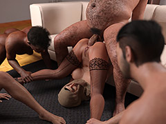 Pound me with your big hard stick - Bahar gangbang by Naughty Hijabista 3DX