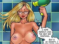 White garters really turn me on - Lesson from the neighbor, The third lesson by Kaos comics