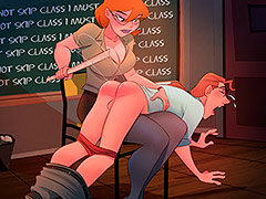 Besides skipping class, you look under my skirt - The Naughty Home Skipping class by welcomix (tufos)