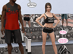 My big black dick would look good in that tight ass - Natasha's workout part 1 by Dark Lord