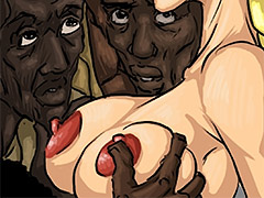 Feel this perfect white female's body - Manza by Illustrated interracial