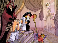Under magic carpet ride - Aladdin and the Magic Lamp: Princess Jasmine, Jafar, Sultan, Abu by Akabur