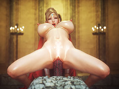 Disgusting demon destroy the holes of a pretty blonde - Elf slave 8 The final by Jared999d