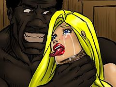 She gagged and belched feeling her womb flooding full of hot black semen that made her want to puke - Farm girl by Illustrated interracial 2016