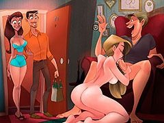 They took a break from the action - Animated tales: Orgy in our neighbor's apartment by Welcomix (Tufos)
