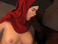 Wiping my whole body clean with their tongue - Young love 5 (cuckold) by Losekontrol (Hijab 3DX)
