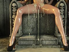 Load of hot cum right in her pretty face - Karen and Bulgan the Impaler 2 by Jared999d