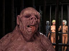 Huge cock monster dominates - Sorcerer Lori, Interrogations by Hibbli3d (Hibbli, Adara)