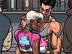 Black girl power - Marty and Blue by The Pit