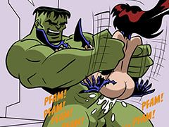 XXX Avengers - The hulk violently fucks his cock by sliding her entire body up and down his rock-hard dick by dirty comics 2015