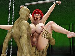 Double penetration of insatiable monsters - Miriam, Bru, Mullin by Blackadder