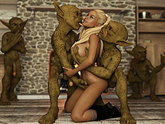 One entered my pussy, while the other entered my ass - My secret goblin obsession by Casgra