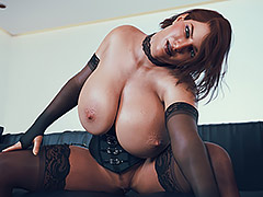 Sexy chick sends pictures to her boyfriend - Hot Busty Redhead by JonasD