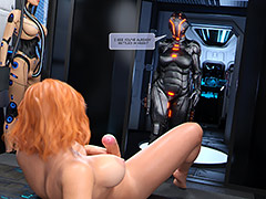 Last time you didn't have sush a juicy dick and such huge tits - First contact 9 Fuck Toy by Golden Master