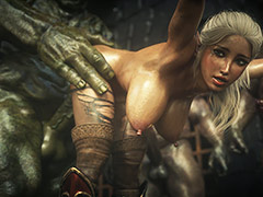 Nasty dungeons with monsters cocks - Elf slave 7 Double trouble by Jared999d