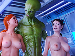 Drill all our holes with your long dick - First Contact 4 Experimental pussys by Golden master