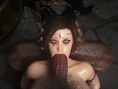 Her small mouth was filled with a giant cock - Fallen lady 2 by Jared999d