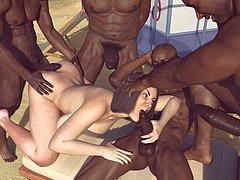 Huge cock, bbc, interracial, milf - Blacks on mom by Lexx228