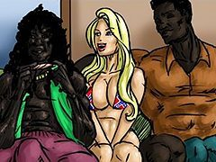 There's a fast a way to feel good - Glag Girls by Illustrated interracial