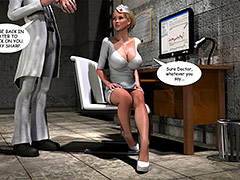 I can feel his fluid releasing - Holly's Freaky Encounters / Night shift nurse by Supafly 3d