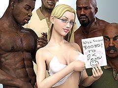 Suck my black fat cock - Interracial 3D by Dark Lord