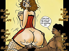 Kashawn watches the thick white mature ass bounce up and down right in front of her - My son's black friend 3 The sleepover by Duke's Hardcore Honeys