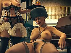 Busty mistress dominates executive maid - Grey Opulence by Karmasou