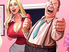 You dick is so big - Interracial cartoon by Perna Longa