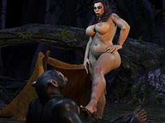 Adventures in prehistoric times - Neanderthal Woman by IronRooRoo