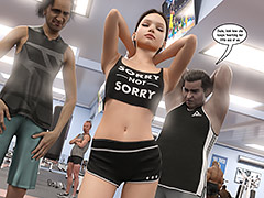 Look how she keeps twerking her ass at us - Natasha's workout part 1 by Dark Lord