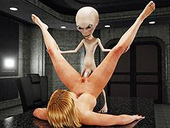 Alien creatures gangbang a pretty girl - Alien Attack by Blackadder