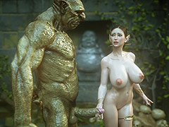 Huge member of a terrible creature - Elf slave 7 Double trouble by Jared999d