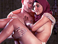 Time to suck my dick - Good wife by Naughty Hijabista 3DX