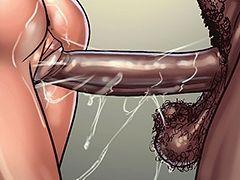 Slam that black cock in me - Art class by Black n White comics 2016