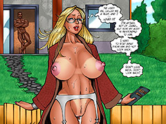 He used me, called me a slut, and I loved it - Lesson from the neighbor, The third lesson by Kaos comics