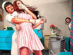 She tried to scream, she tried to writhe - Nurse nightmare by Turk