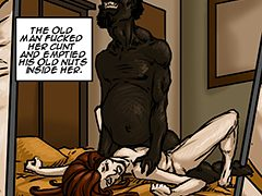 Huge white dick - Naomi by Illustrated interracial