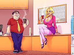 She always came to work dressed in sexy clothes - Animated tales: Me - the ugly nerd - and the hot blonde from work by Welcomix (Tufos)