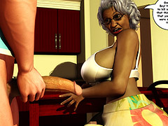 He slid his cock in deep giving her the full length of his big white cock - Ms. Jiggles 3D by Duke's Hardcore Honeys