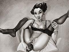 Hot vintage girl - Brothel Dolls (cartoon porn) by jabcomix