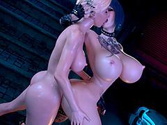 Hot futa blonde cunnilingus - Cyberpunk by Miro