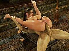 Big tits futanari slut - Gisela and DeSoul by Blackadder